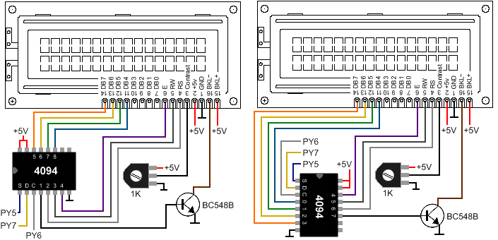 Connecting LCD using shift register 705x340
