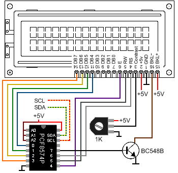 Connecting LCD using CF8574P 350x340